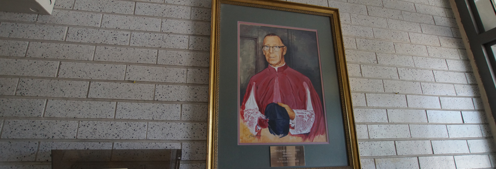 Framed photo of Monsignor Philip Coffey.